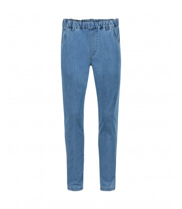Herenpantalon Elastiek Jeans Light Bleu
