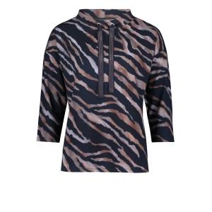 Sweater Marine Roest Tijgerprint