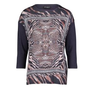 Shirt Marine Roest Paisley Print