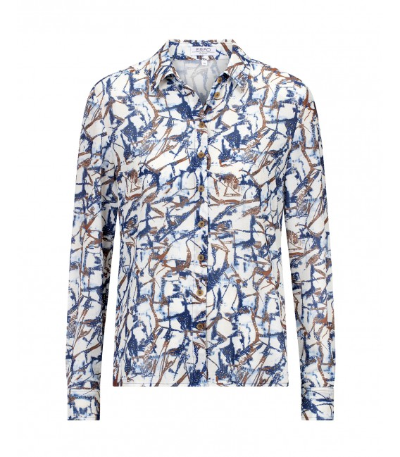 Blouse Jeansblauw Tabac Dessin