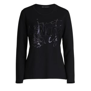 Shirt Zwart Letter Studs