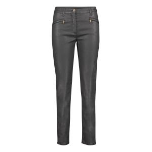 Damespantalon Zwart Leather Look