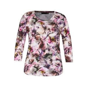 Shirt Flanell Zwart Bloem