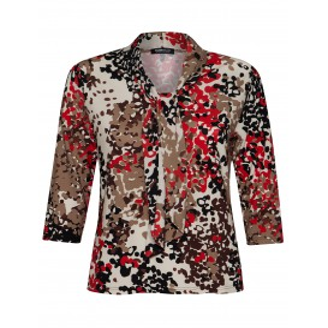 Shirt Strik Zwart Tomato Camel Luipaardprint