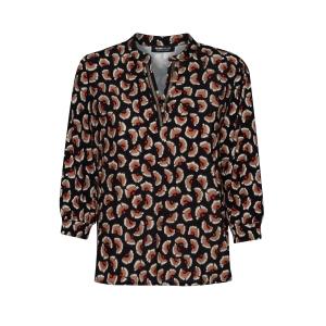 Shirt Zwart Tomato Camel Print