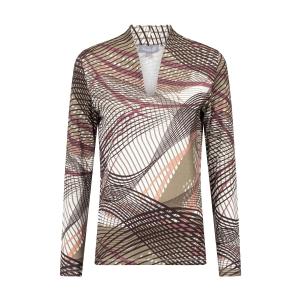Shirt Khaki Aubergine Fantasie