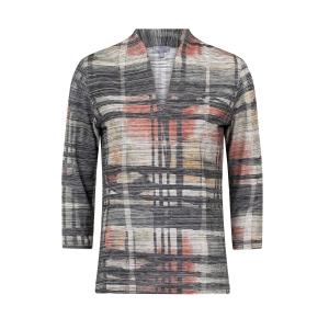 Shirt Khaki Zwart Rood Accent