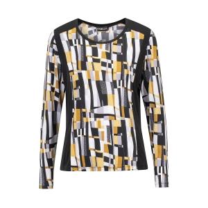 Shirt Kerrie Zwart Mondriaanprint