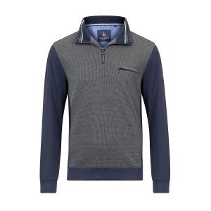 Polosweater Marine Groen Ruitje