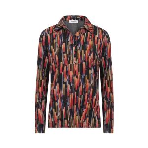Poloshirt Zwart Rood multicolor